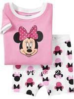 2013 New! kid mickey mouse clothing,girls minnie fashion short sleeves pyjamas, cotton Free shipping 6 sets/lot ( 6 sizes)