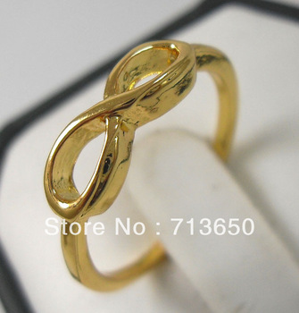 Min. Order is $5 ( Less $5, not buy )! 4pcs Gold plated One direction ring infinity ring letter 8 ring fashion jewelry
