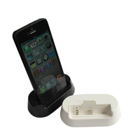 Freeshipping Newest For iphone 5 Desktop Audio Dock Charger Station Cradle for iphone5 Charger Dock Holder With Metal base