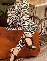 Womens Lady Sexy Thin Zebra Print Leggings Pants Fashion Hot New Pantyhose