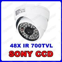 SONY Super HAD CCD 48LED Waterproof IR Camera Effio 700TVL OSD Menu White Dome Camera