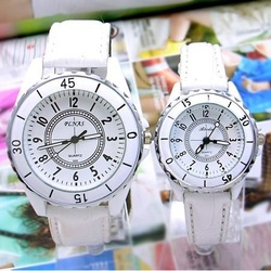 Min. Order is $5 Brand New Famous Silicone Band Steel Buckle Watch for Women and Men Watch Wrist Watches Free Shipping SRW005(China (Mainland))