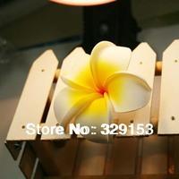 100pcs/lot Free Shipping Seashore Decoration Plumeria Hawaiian Foam Frangipani Flower DIY Hair Accessory size 4/5/7/9cm