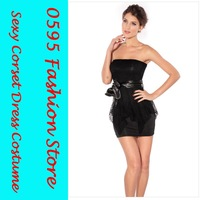 Free Shipping!  Lady  Black  Double-layer Package Hip Tutu Dress  Sexy Club Wear  HL2674-1