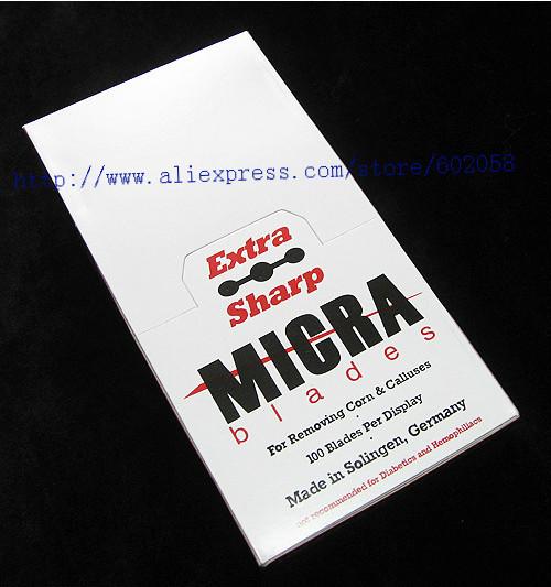 wholesale Micra extra sharp solingen corn Double Edge Razor Blade Callous remover Eyebrow cutter 2800pcs/lot free shipping(China (Mainland))