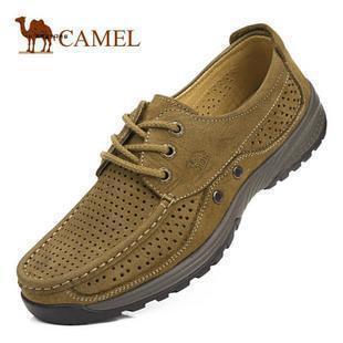 Magasins d'usine de mode chaud chameau, sandales, véritable homme chaussures d'été nouvelle hommes, perforé. respirant. sandales en cuir