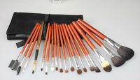 Free shipping 18pcs Cosmetic brush sets animal cosmetic brush set with cosmetic bag
