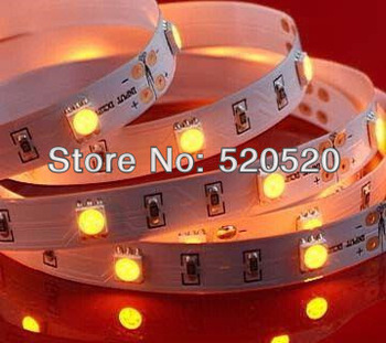 5m/roll dc12v strip led 5050SMD 30leds/m 150led white/warm white/cool white/red/green/blue/yellow free shipping