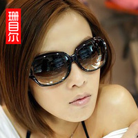 Sunglasses female 2013 polarized sunglasses star style fashion sunglasses large vintage sunglasses big box driving glasses