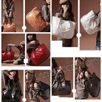Free Shipping 1 piece/lot PU Leather +Metal Stone Shining Pattern Shoulder Bags Fashion Women's Handbags 5 Colors ej640193
