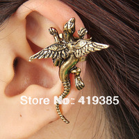 New Arrive Gothic Punk Vintage Animal Ear Cuff Earrings Free Shipping 24pcs/lot 0326024