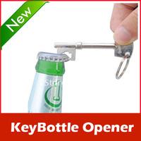New Bottle Opener Key Ring Keyring Chain Metal Bar Tool
