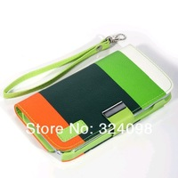 DHL Free Shipping 50pcs/lot Newest Hybrid Leather Wallet Flip Pouch Stand Case Cover For Samsung Galaxy Note 2 N7100