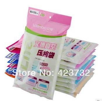 Free shippping compressed vacuum bag spack saving bag clothes storage plastic bag 5pcs/lot 80*110cm