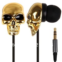 Stylish 3.5mm Plug Skull Mask Design Stereo In-ear Music Earphone with Iron Box