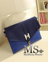 Hot sale 2013 vintage briefcase fashion genuine leather  buckle day Clutch Small Messenger Bag Women Shoulder Bag