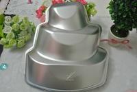2013 Free Shipping DIY Mini 3-Tier Cupcake Pudding Chocolate Cake Mold Baking Pan Mould Party Food Baking Cake Pan