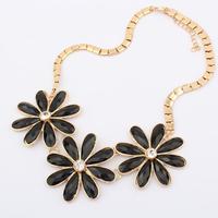 Fashion female elegant gem women flower necklace