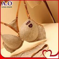 Free shipping New 2014 fashion women bamboo cozy sport bra sets Push up women's Y-line Straps underwear bra set