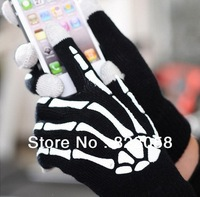 20pairs/lot! Factory price! Gamer's Human skeleton Screen touch gloves Unisex  for Iphone/ipad Multicolor #SR-G003 Free shipping