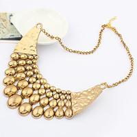 Fashion female metal star vintage big alloy necklaces
