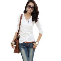 2013 Women's clothes spring plus size short-sleeve T-shirt top basic long-sleeve tidal current for female xxxxl xxxl 4XL DFW011