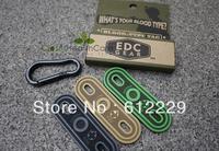 Tactical Blood Type Identification Patch Shoelace Zipper Label 1set 3colors