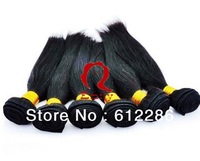 Factory price 100g/piece 3 pcs/lot silky straight #1 jet black hair extension remy Indian human hair