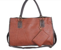 2013 PU black shoulder  big bags women's handbag coffee and black bolsas