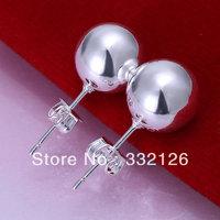 JE074  Lowest price wholesale 925 solid Silver earring 2013  charm Jewelry earring  women's  fashion jewelry, 10M Bean Earrings