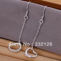 JE086 Hot sale, lowest price wholesale 925 solid Silver earring Fashion women charm Jewelry earring, Warm Heart Earrings