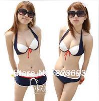 Hot 2013 Sexy Women's Push UP Padded 3pcs Halter Bikini Swimsuit Bathing Suit