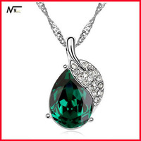 Free Shipping MT13040468 Rose Drop Crystal Pendant For Girls