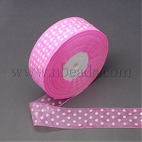 Organza Ribbon,  Nice for Party Decoration,  PearlPink,  40mm,  100yards/roll