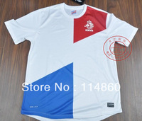 hot sell  13/14 Netherlands away white best  thai quality soccer football jersey, Holland soccer jerseys shirt  free shipping