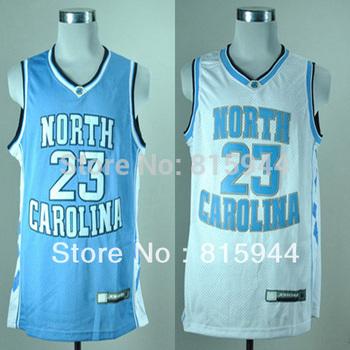 North Carolina Tar Heels #23 Michael white/ blue college basketball jerseys size s-xxl mix order free shipping
