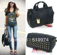 2013 women's handbag rivet clutch bags one shoulder cross-body handbag tassel bag   2 colors free shipping