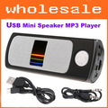 USB Mini Speaker MP3 Player Amplifier support Micro SD TF Card USB Disk FM Radio Free shipping wholesale #7840