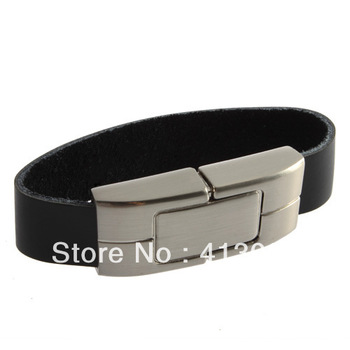 Free Shipping Bracelet Leather USB 2.0 Flash Memory Drive