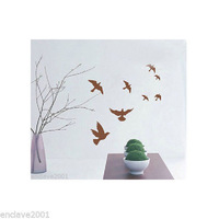 (Minimum order $5,can mix)  Various Colors Flying Bird Decor Mural Wall Sticker Decal S101