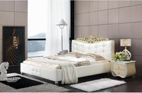 high quality leather bed soft bed modern bed bedroom furniture home furniture  LSCK002