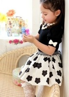baby girls suit kids children 2 pc set short sleeve t shirt + skirt flower set 0614 sylvia 1174317881