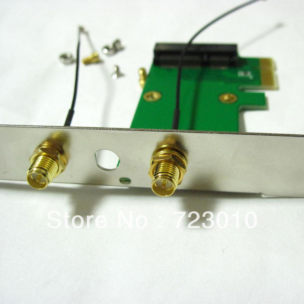 2in1 full + half size wireless wifi mini pci-e card to pci-e pci express adapter(China (Mainland))