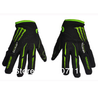 New outdoor sports gloves Cycling Bike Bicycle Sporting Gloves Full Finger Breathable Size M L XL Black free shipping#843-1
