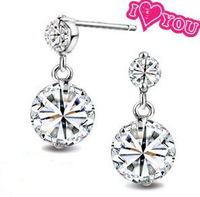Mother's Day Gift For Woman Genuine 925 Sterling Silver Earrings,Made with Genuine SWA ELEMENTS Crystals From Austria