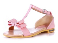 Factory direct  2013 women's new fashion flat sandals cute butterfly knot open toe shoes size 34-39 BM 403