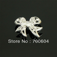 2.8*3cm,Metal Alloy Wedding Garment beads buckle, Butterfly bowknot Shank Rhinestone Buttons, Wholesale Free Shipping