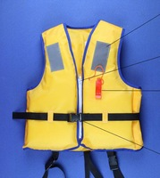 Lifejacket swimsuit yellow foam life jackets for children +free shipping
