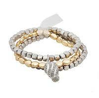Free Shipping  2014 New Arrival Bracelet Jewelry Fashion Hot Sales Plastic Metal Stretchy Bracelet Set  (B2 141)