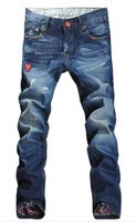 Free shipping!!  Red Love of play high quality men's jeans,straight type